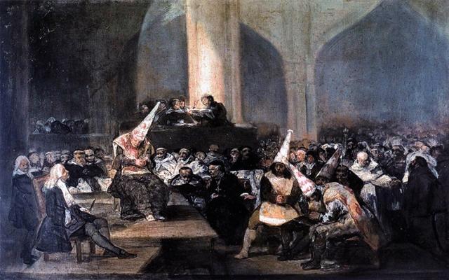 El santo oficio de la inquisición, de Francisco de Goya.